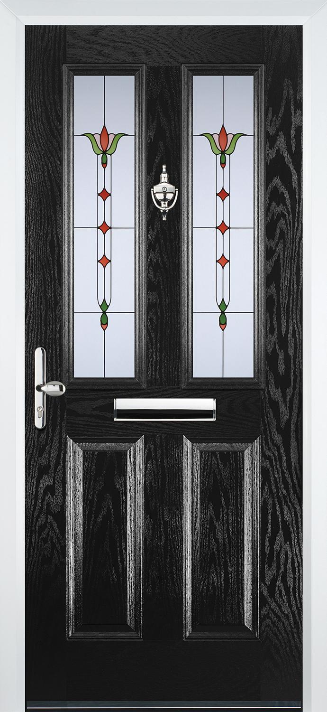 Black Traditional Composite Front Door