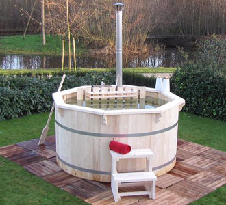 Wood Fired Hottubs for the garden, on sale by Synergy in Carlisle Cumbria
