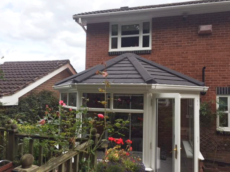 Three facet victorian tiled conservatory roof