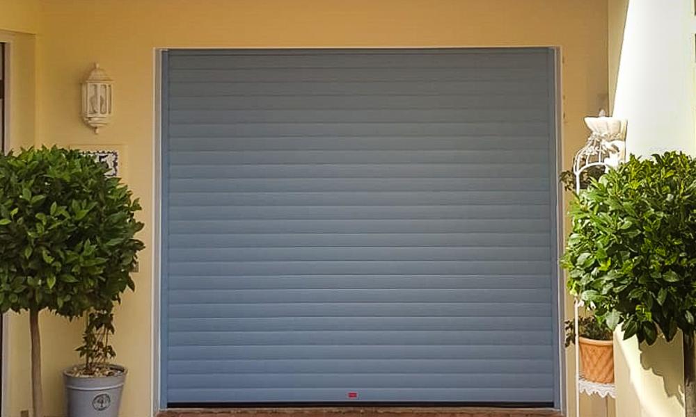 grey roller shutter garage doors