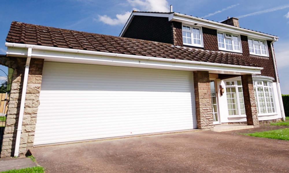 large garage door automated roller shutter garage door