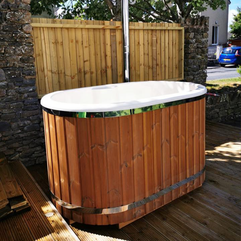 Japanese Style wood fired hot tub Cumbria