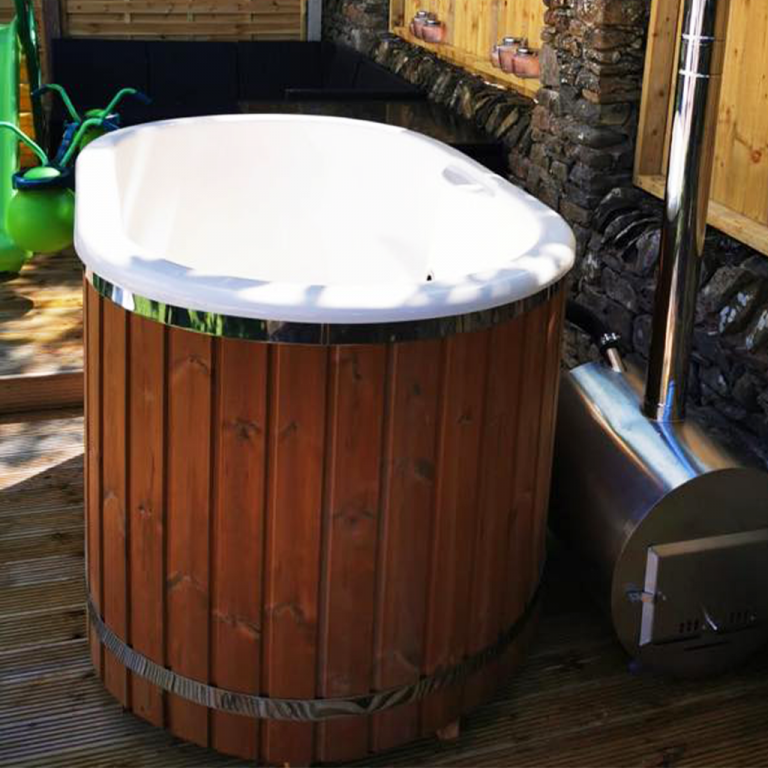 Japanese style wooden hot tub Cumbria