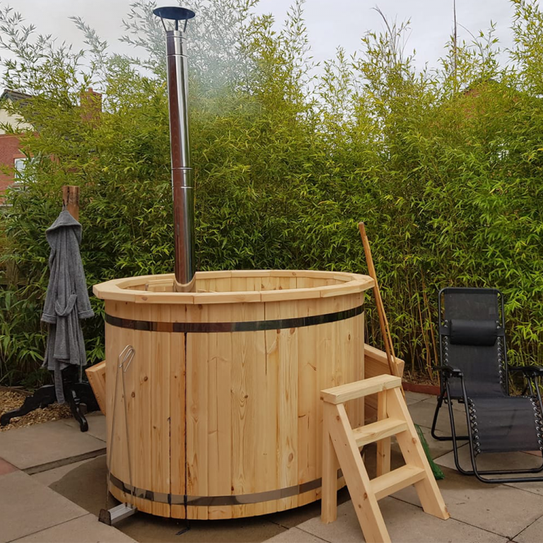 Wooden Hot Tub installed in Dalston Cumbria